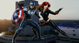 Captain America and Black Widow at SHIELD HQ by WOLFBLADE111