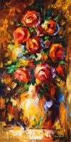 Summer Roses by Leonid Afremov by Leonidafremov