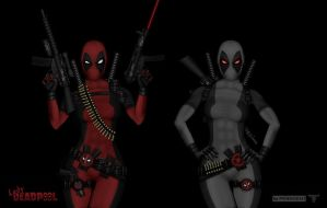 Lady Deadpool 2V - X-force by PHOENIX8341