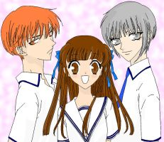 Fruits Basket Trio by boredcheese-chihuahu