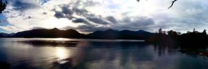 Derwent Water Panorama 2 by robbsiebobs