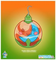 Kawaii Orange Xmas Ornament by KawaiiUniverseStudio