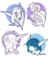 Night Elf Sketches by Metr0nova