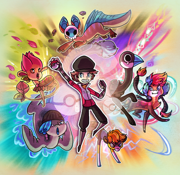 Charactermon team! by griffsnuff