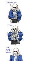 Sans makes an awful decision by JimPAVLICA