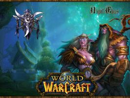 WoW-Night Elves 1600x1200 by Ghost-Rave