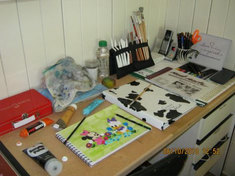 My Art Desk by LaSerenity