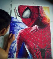 The Amazing Spider Man 2 Ballpointpen Drawing by ATCdrawings