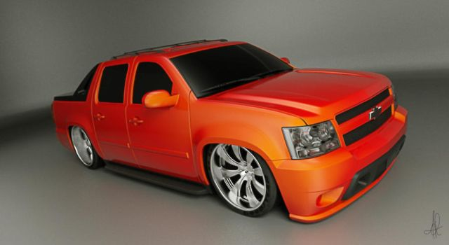 Chevy avalanche WIP by 3dmanipulasi