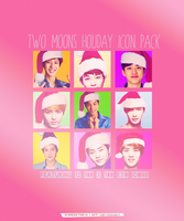 TWO MOONS HOLIDAY Icon Pack by superstar-k
