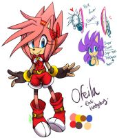 Ofeila the hedgehog by Omiza