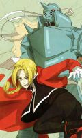 Fullmetal Alchemist Elric Brothers by Breetroad