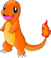 04 Charmander Colored Lineart By Lilly Gerbil by TrainerTouko