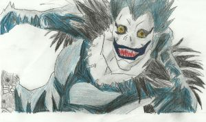 Death Note Ryuk Drawing by AC032productions