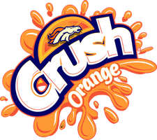 Broncos Orange crush T-shirt design by chrisfurguson