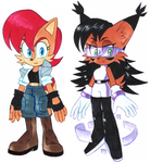 Sally and Nicole designs by Strixic