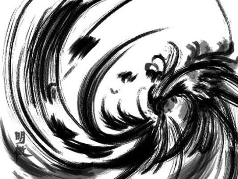 chinese ink by kazen-blown
