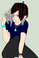 Me with my cat Natasha by wolvesanddogs23