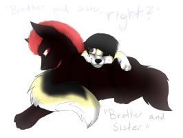 Brother and sister by TTthemutt