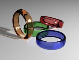 Colored rings 3D by nisfor