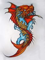 Koi Dragonfish by Elliesmeria