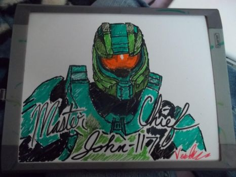 White Board Master Chief by Verbophobic
