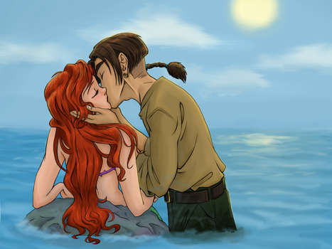 Kissing in the Sea by iesnoth