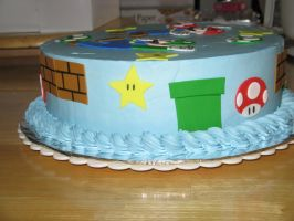 Mario and Luigi cake-side 2 by Sumrlove