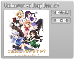 Gochuumon wa Usagi Desu ka? - Anime Folder Icon by Aven-23