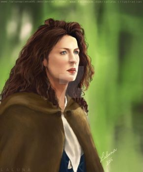 Caitriona Balfe as Claire Beauchamps by LalunaPiena96