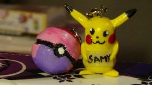 Dream Ball and Pikachu Charms by KarenNuilCoco