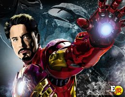 Tony Stark ( The Iron Man ) by satoshi21