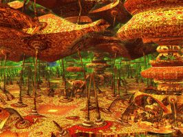 Tropical fractal with  proboscis by PhotoComix2