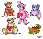 Some Valentines Day Bear Sketches by Trelock