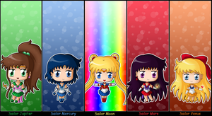 Sailor Moon: Chibi Inner Senshi full set by izka197