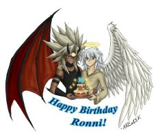 The Angel and the Devil - Happy Birthday, Ronni! by ARCatSK