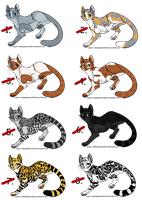 Cat Point Adoptables 2 - ALL SOLD by Bilashakala