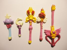 Sailor Moon wands so faar... by societyisfucked