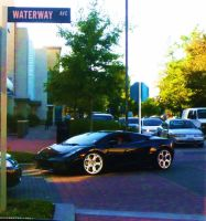 Sexy Lambo At Waterway Ave by SwiftWindSpirit