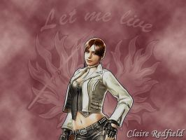 Claire Redfield Wallpaper by XxCherokeeRosexX