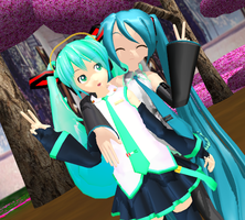 MMD Peace Pose download by amiamy111