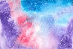 Watercolour Galaxy by deadrockchariot