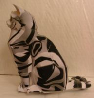 5 Paper Cat by spacemonkeysunited