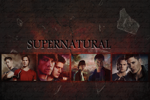 Supernatural Wallpaper - Sam and Dean by Vampiric-Time-Lord