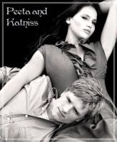Peeta and Katniss by EllieJelly666