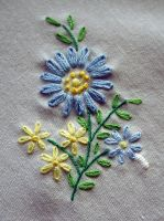 Daisy Daisy Embroidery Closeup by ArielManx