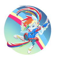 Rainbow Dash rocks by SilberSternenlicht