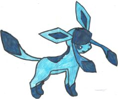 Glaceon Coloured by CoolMan666
