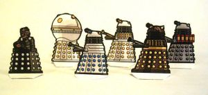 Dalek Paper miniatures by Scarecrovv