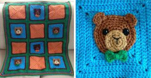 Mr. Bear Blanket by Brookette